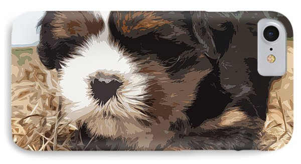 Shih Tzu On A String Phone Case by Robert Margetts
