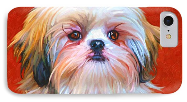 Shih Tzu Painting Phone Case by Iain McDonald