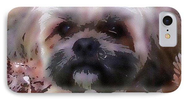 Shih Tzu Watercolor IPhone Case by Gail Matthews