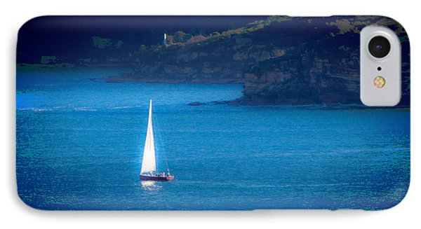 IPhone 7 Case featuring the photograph Shimmer Of The White Sail by Miroslava Jurcik
