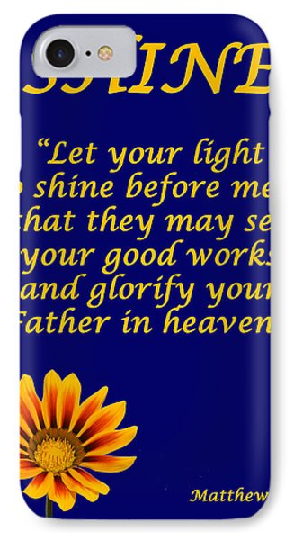 Shine Christian Poster IPhone Case