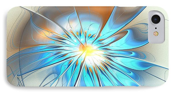 Shining Blue Flower IPhone Case by Anastasiya Malakhova
