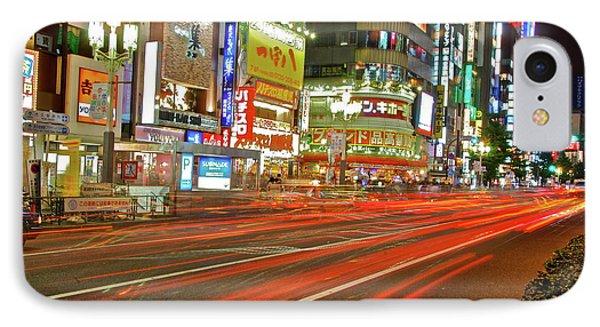 Shinjuku Neon Strikes IPhone Case by Jonah  Anderson