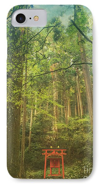 Shinto Shrine Deep In The Forest IPhone Case by Beverly Claire Kaiya