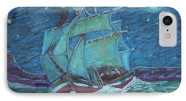 Ship At Sea IPhone Case by Joseph Hawkins