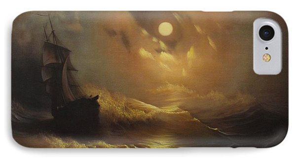 Ship At Sea IPhone Case by Rembrandt