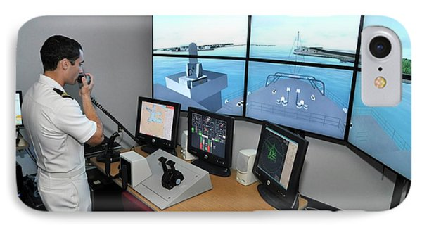Ship Handling Simulator IPhone Case by Us Air Force/nathanael Miller