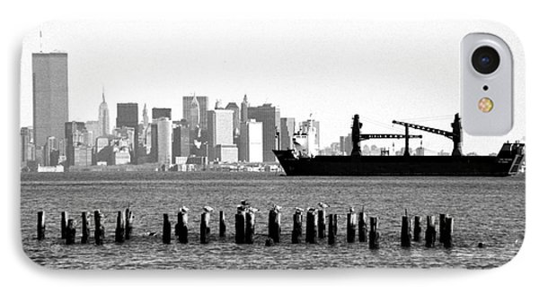 Ship In The Harbor 1990s IPhone Case by John Rizzuto