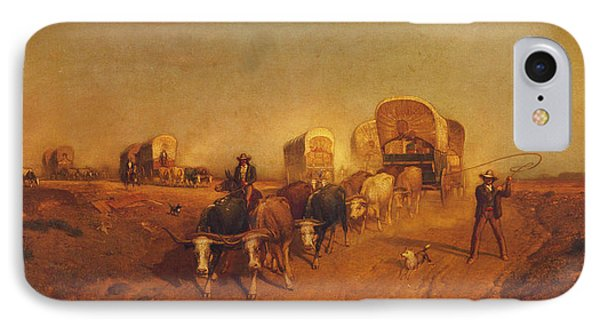 Ship Of The Plains Covered Wagons IPhone Case