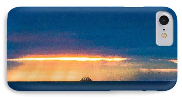 Ship On The Horizon IPhone Case by Edgar Laureano