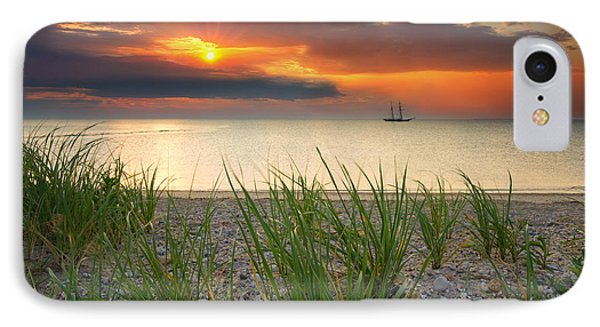 Ship Passing Through IPhone Case by Darylann Leonard Photography