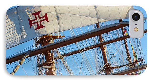 Ship Rigging IPhone Case by Carlos Caetano
