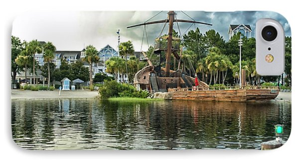 Ship Wrecked At The Disney Yacht And Beach Club Resort Phone Case by Thomas Woolworth