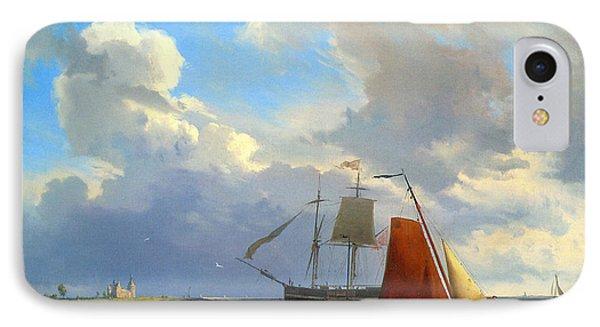 Shipping In A Choppy Estuary IPhone Case