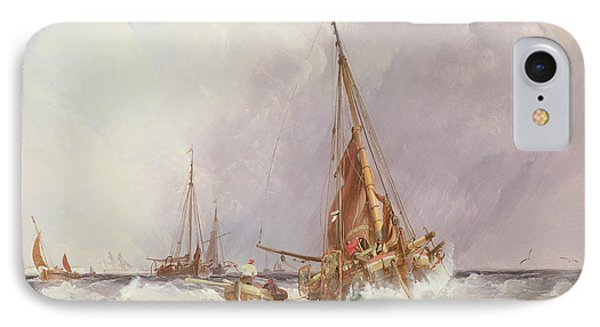 Shipping In The Solent 19th Century Phone Case by George the Elder Chambers