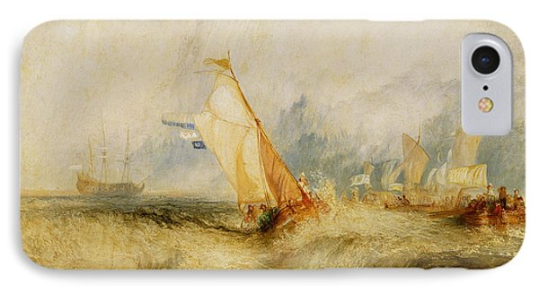 Ships A Sea Getting A Good Wetting Phone Case by Joseph Mallord