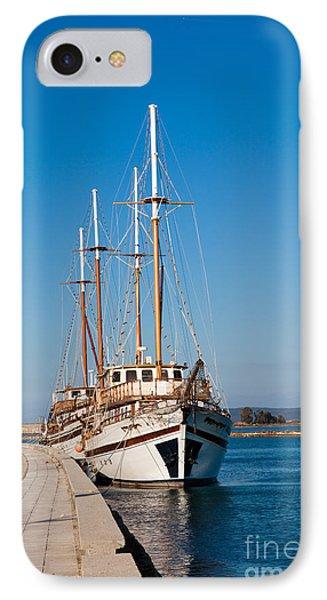 Ships At Lefkada Phone Case by Gabriela Insuratelu