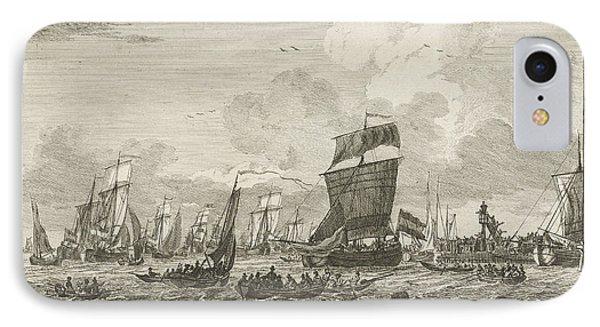 Ships Heading In Vlaardingen, The Netherlands IPhone Case by Gerrit Groenewegen