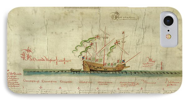 Ships In The King's Navy Fleet From 1546 IPhone Case by British Library