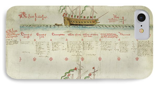Ships In The King's Navy Fleet From 1548 IPhone Case by British Library