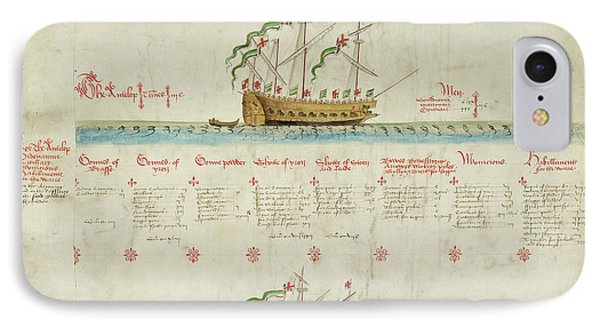 Ships In The King's Navy Fleet From 1549 IPhone Case by British Library