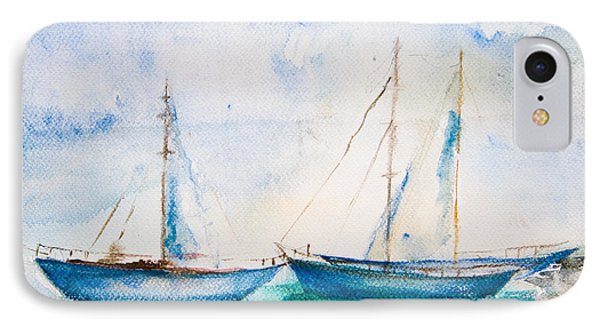 Ships In The Sea IPhone Case