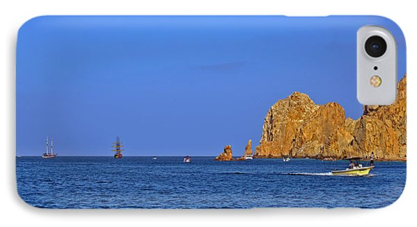 IPhone Case featuring the photograph Ships Lining Up At Land's End by Christine Till