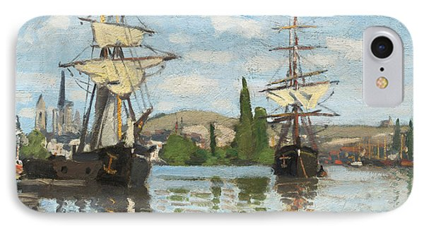 Ships Riding On The Seine At Rouen IPhone Case