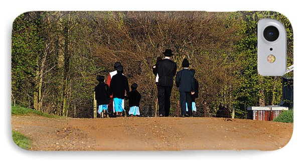 Shipshewanna Amish Family On Their Way To Church Phone Case by Jay Dreifus