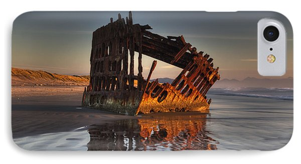 Shipwreck At Sunset Phone Case by Mark Kiver