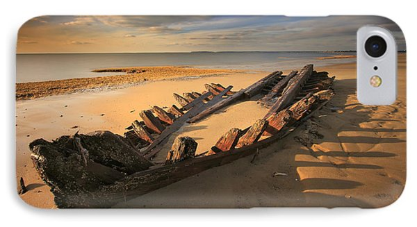 Shipwreck On Cape Cod Beach IPhone Case