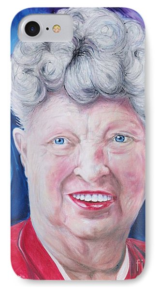IPhone Case featuring the painting Shirley's Portrait by PainterArtist FINs husband Maestro