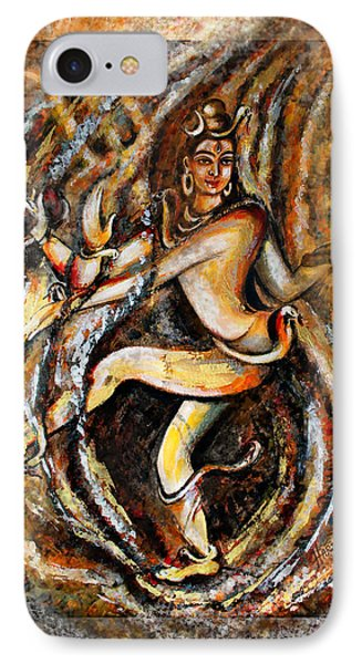 IPhone Case featuring the painting Shiva Eternal Dance by Harsh Malik