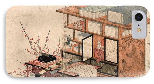 Shodana To Fuzukue To Ume IPhone Case by Yajima, Gogaku, 19th Century, Japanese
