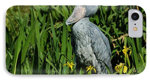 IPhone Case featuring the photograph Shoebill Stork by Georgia Mizuleva