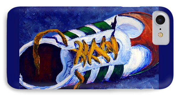 IPhone Case featuring the painting Shoeless by Jackie Carpenter