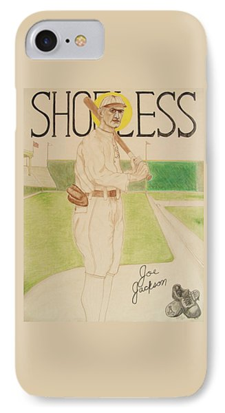 IPhone Case featuring the painting Shoeless Joe Jackson by Rand Swift