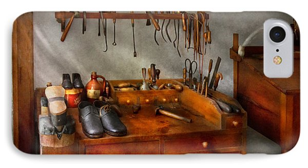 Shoemaker - The Cobblers Shop Phone Case by Mike Savad