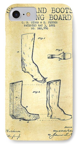 Shoes And Boots Crimping Board Patent From 1881 - Vintage IPhone Case by Aged Pixel