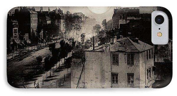 Shoeshine On The Boulevard Du Temple 1838  Paris IPhone Case by Douglas MooreZart