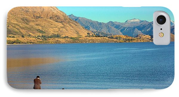IPhone Case featuring the photograph Shooting Ducks On Lake Wanaka by Stuart Litoff