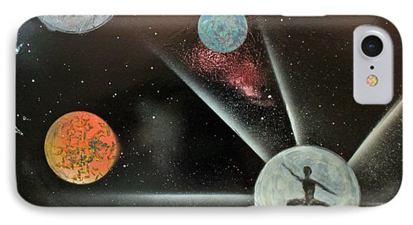 IPhone Case featuring the painting Shooting For The Moon by Jack G  Brauer