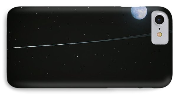 IPhone Case featuring the digital art Shooting Star by Pete Trenholm