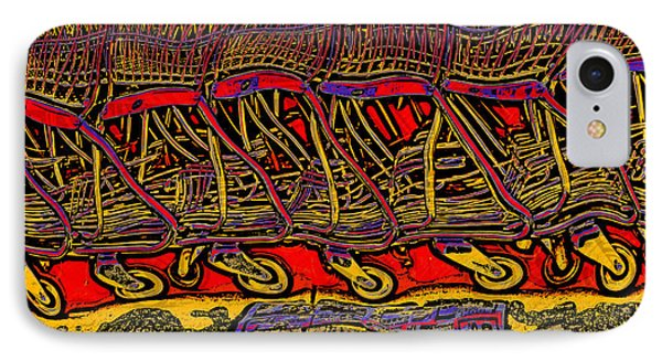 IPhone Case featuring the digital art Shopping Carts by Richard Farrington