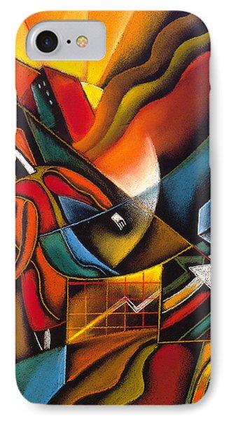 Shopping Phone Case by Leon Zernitsky