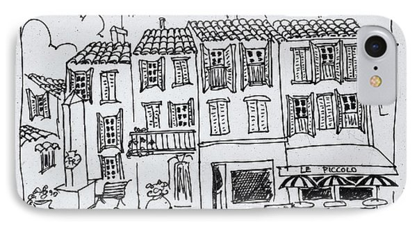 Shopping Street In The Medieval Village IPhone Case