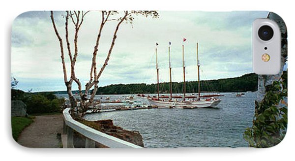 Shore Path In Bar Harbor Maine IPhone Case by Judith Morris