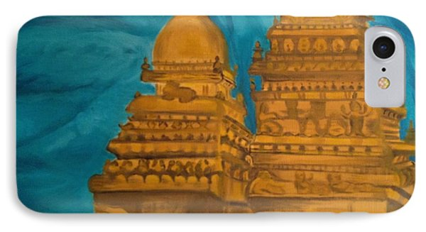 IPhone Case featuring the painting Shore Temple by Brindha Naveen