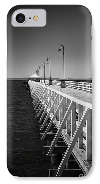 Shorncliffe Pier In Monochrome IPhone Case by Peta Thames