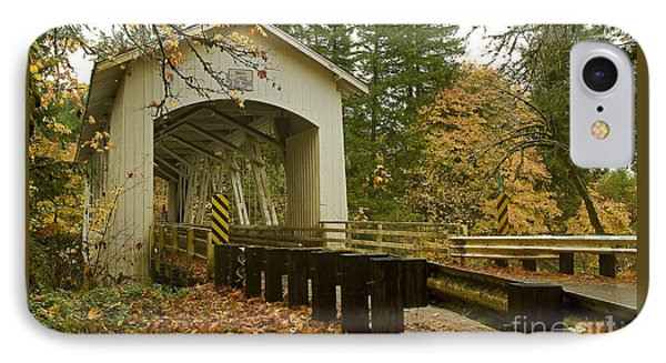 Short Covered Bridge IPhone Case by Nick  Boren